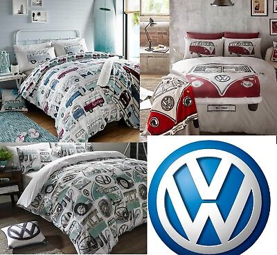 VW Volkswagen Duvet Cover Set Classic, On Tour, Surfs Up Bedding
