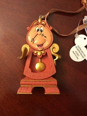 Disney Beauty and the Beast Cogsworth Christmas Ornament New For 2017