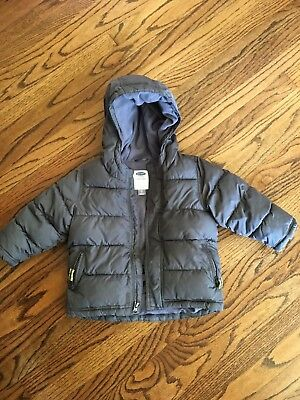 Old Navy Boy boys Frost Free Hooded Jacket Coat Gray 2T 2 years puffer