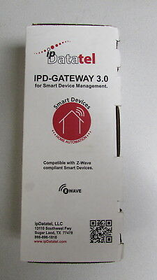 ipDatatel IPD-Gateway 3.0 wireless smart device zwave automation remote view NIB