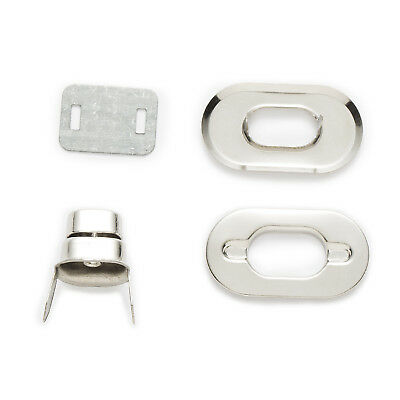 10 Sets Silver Tone Oval Clasps Handbag Bag Accessories Twist Turn Lock 37x21mm