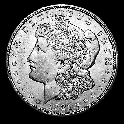 1921 D ~**ABOUT UNCIRCULATED AU**~ Silver Morgan Dollar Rare US Old Coin! #M36