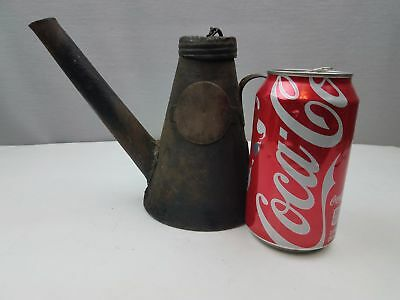 Antique Lehigh Valley RR Railroad Oiler Fuel Filler Can Rustic Primitive PA NY