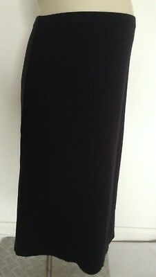 [346] George Maternity Black Calf Length Skirt Size 16