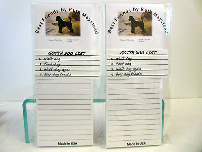 New Portuguese Water Dog Magnetic Refrigerator List Pad Set of 2 Pads PWD-4