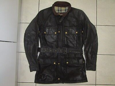 belstaff trialmaster waxed cotton  jacket black 100%authentic  96/38 s