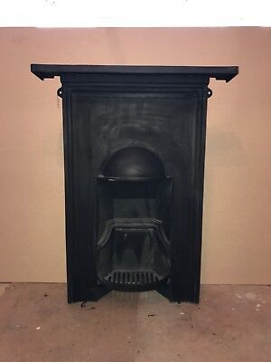 Antique Victorian cast iron bedroom combination fireplace complete ready to fit