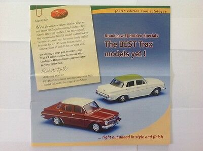 Trax Catalogue Fourth Edition 2001 - Holden, Ford, Valiant, Chrysler Model Cars
