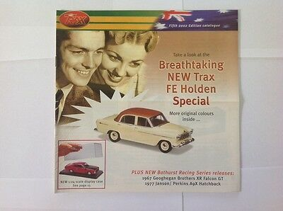Trax Catalogue Fifth Edition 2002 - Holden, Ford, Valiant, Chrysler Model Cars