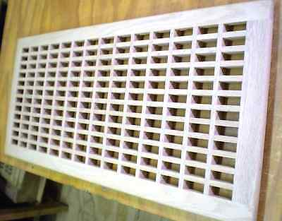 """Red Oak Wood Cold Air Return Register Vent Cover For 30"""" L x 13"""" W Duct Opening"""