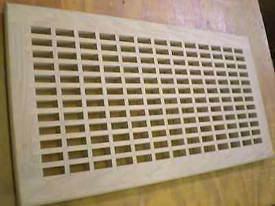 """Red Oak Wood Cold Air Return Register Vent Cover For 28"""" L x 12"""" W Duct Opening"""