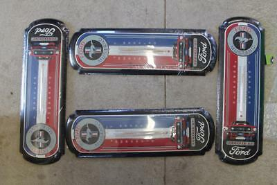 Lot Of 4 Ford Mustang Tin Sign Thermometer Man Cave Shop Auto See Notes Nos