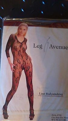 Leg Avenue Lace Bodystocking White One Size
