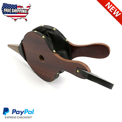Easy Vintage Leather Wood Fireplace Hand Fire Bellows Air Blower Stove Camping