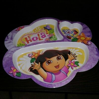 Dora The Explorer Plate Divided Dish Children