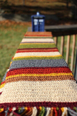 Handmade Crocheted 7 foot long Doctor Who Scarf Tom Baker 4th Doctor scarf
