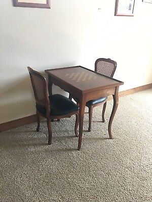 Vintage Game Table Chess and Backgammon