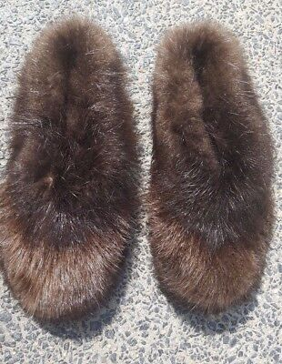 Authentic Beaver Fur Slippers