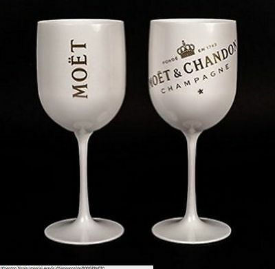 Moet Chandon Ice Imperial Champagne Acrylic Glass Goblet New 2016 set x 2