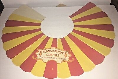 Vintage Box Top 1955 French's Bird Seed Parakeet Circus Show of Mirth Bird Cage
