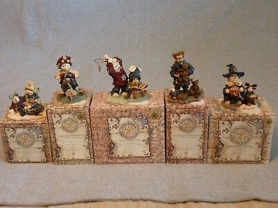 Boyds Bears & Friends - Wee Folkstones Collection - Lot Of Five