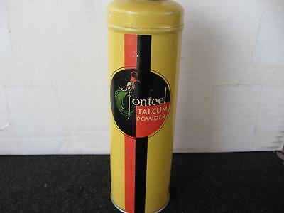 Vintage Jonteel Talcum Powder Tin