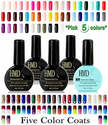 5 Pcs value pack HMD Soak Off UV LED Gel Nails Polish variety selection Canada