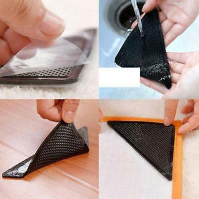 New 4 Packs Ruggies Rug Carpet Mat Grippers Non Slip Skid Reusable Washable Grip