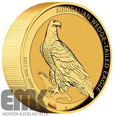 Australien - 500 Dollar 2017 - Wedge-Tailed Eagle - 5 Unzen Gold PP High Relief
