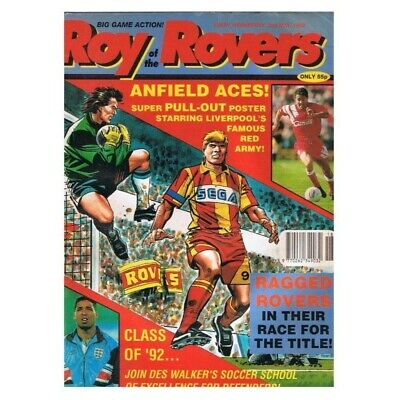 Roy of the Rovers Comic May 2 1992 MBox2790 Ragged Rovers in their race for the