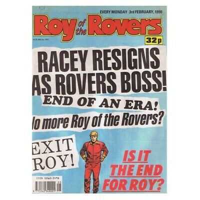Roy of the Rovers Comic February 3 1990 MBox2790 Racey resigns as Rovers boss! I