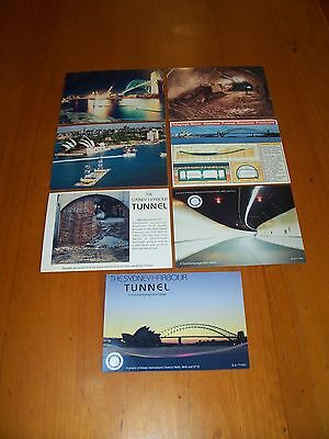 RARE SET OF 7 SYDNEY HARBOUR TUNNEL POSTCARDS EARLY 1990's