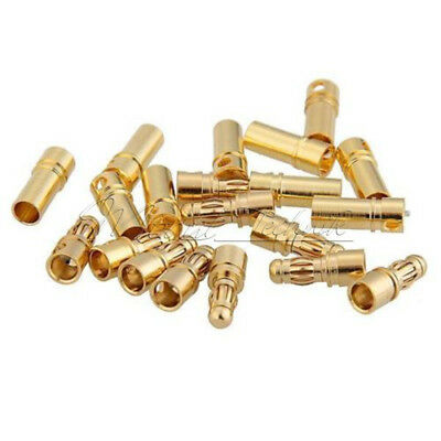 10 Pairs RC 3.5mm Male/Female Gold-plated Bullet Banana Plug Connector Set