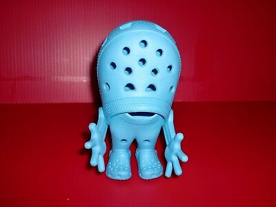 "Rare Crocs Man Shoes Blue Action Figure Doll 5"" Croslite Advertisement Promo"