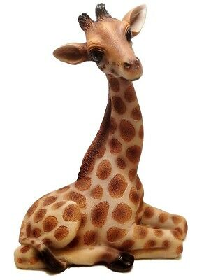 Giraffes Wild Statue Safari Animal Figurine Decor Sculpture Outdoor Garden Gift