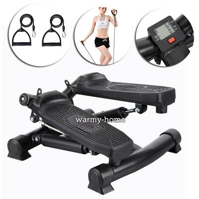 Aerobic Workout Gym Equipment Fitness Mini Stepper Exercise Sports Step Black