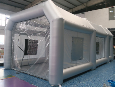 Popular portable oxford cloth inflatable spray paint booth 8x4x3Metre (LxWxH)