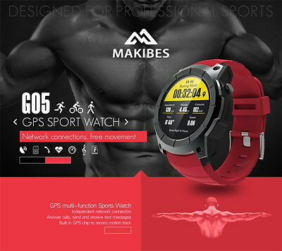 MAKIBES G05 GPS Reloj Deportivo SMARTWATCH  Pantalla 1.3 '' COLOR Bluetooth 4.0