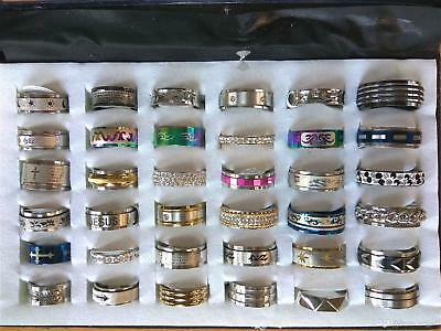 WHOLESALE 10pcs Mixed LOT STAINLESS STEEL RINGS STOCK CLOSEOUTS SALE BULK Free