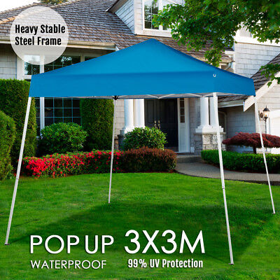 New 3x3m Gazebo Outdoor Pop Up Tent Folding Marquee Market Party Wedding Canopy