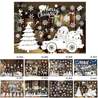 Christmas Xmas Wall Decal RainDeer Baubles Snowman Shop Window Dispaly Stickers