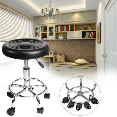 Swivel Salon Stool Hairdressing Barber Chair Beauty PU Equipment Hydraulic Lift