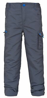 Trespass Sampson Boys Grey Lightweight Walking Trousers Waterproof Hiking Pants