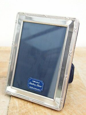 "Hallmarked Solid Silver Photo Picture Frame London 1997 4"" X 3"""