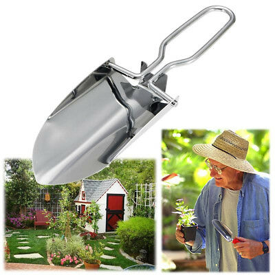 Gardening Stainless Steel Foldable Shovel Planting Tools Outdoor Camp Portable