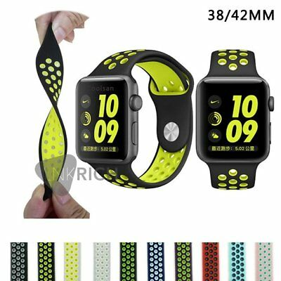 Silicone Replacement Sports Strap Band for Apple Watch iWatch Series 2/1