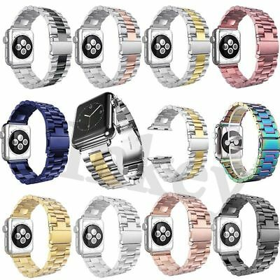 New Stainless Steel Wrist Bracelet For Apple Watch Band iWatch 38mm/42mm Clasp