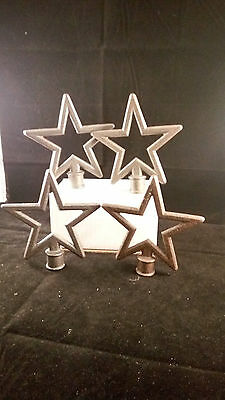 Cast Iron STARS STAR Finial Garden Statue Home Decor Rustic Ranch VINTAGE (E90)