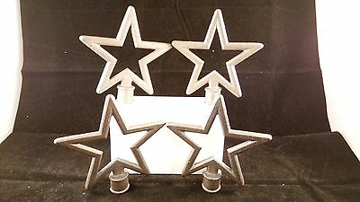 Cast Iron STAR Finial Garden Statue Home Decor Rustic Ranch VINTAGE (G29)