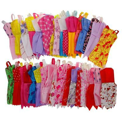 12X/set Mix Sorts Handmade Party Dress Clothes For Barbie Doll Kids Toys Gift AU